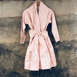 Catherine Regehr vintage pink silk dress with bow
